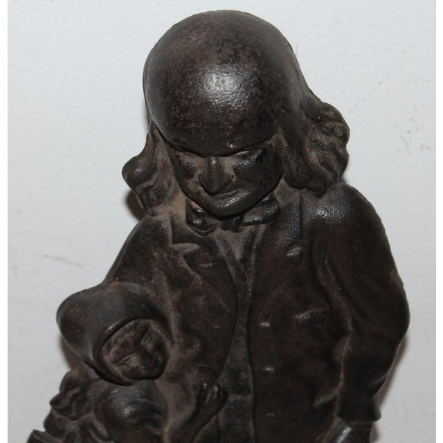Benjamin Franklin Cast Iron Door Stop - Image 4 of 7