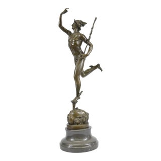 Mercury Hermes 19th Century Grand Tour Bronze Sculpture