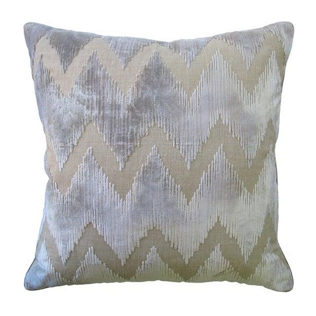 Lee Jofa Belgian Velvet Accent Pillows - a Pair - Image 1 of 2