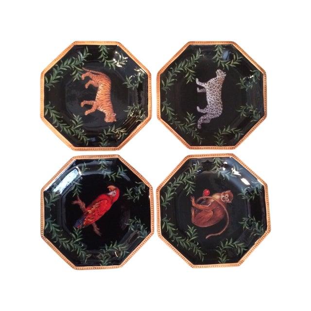 Decorative Decoupage Plates - Set of Four - Image 1 of 9