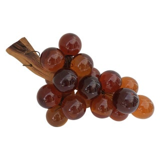 Mid-Century Orange Bunch of Lucite Grapes