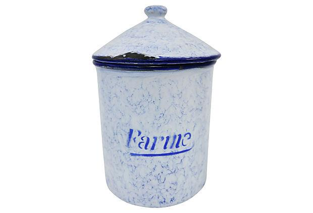 vintage enamel kitchen canisters set of 6 chairish