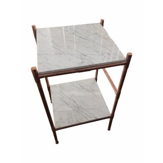 Handmade Copper & Marble Side Table