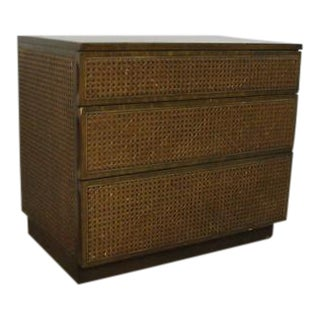 Edward Wormley Directional Danish Modern Woven Cain Dresser