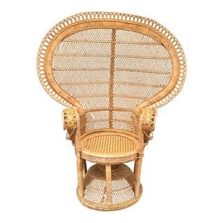 Vintage Boho Peacock Chair