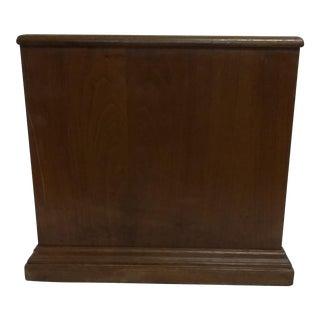 Decorative Wood Wastebasket