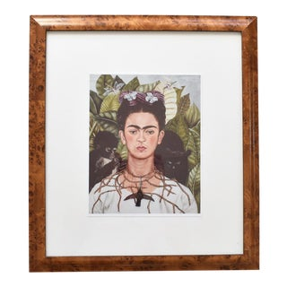 Burlwood Framed Frida Kahlo Print