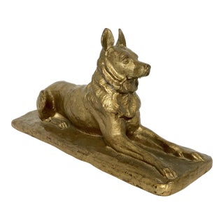 Brass Reclining Dog
