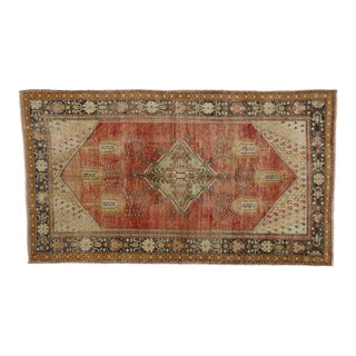 Vintage Turkish Oushak Rug - 5′6″ × 9′8″