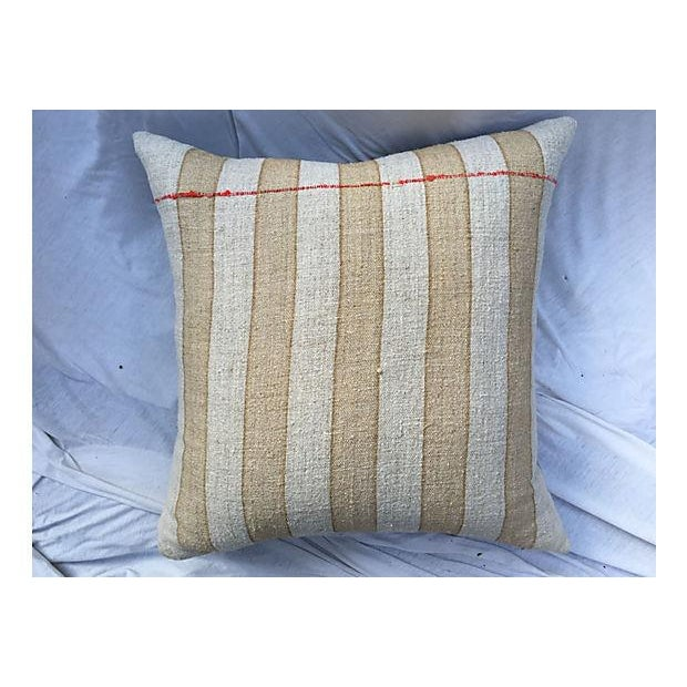 Vintage French Grain Sack Pillows - Set of 3 - Image 3 of 7