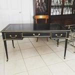 Image of Baker Louis XVI Style Ebonized Gilt Writing Desk