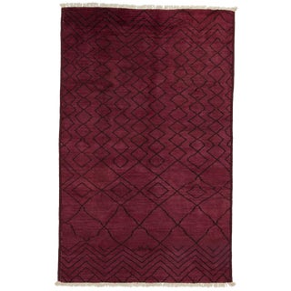 """Over-Dyed Moroccan Hand-Knotted Rug - 4' 10"""" x 7' 10"""""""
