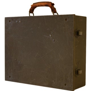 1930s Metal & Leather Tool Box