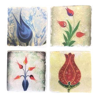 Tulip Marble Coasters - Set for 4