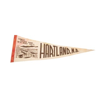 Hartland, NB Covered Bridge Felt Flag