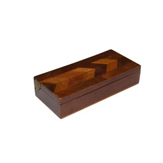 Herringbone Walnut Trinket Box