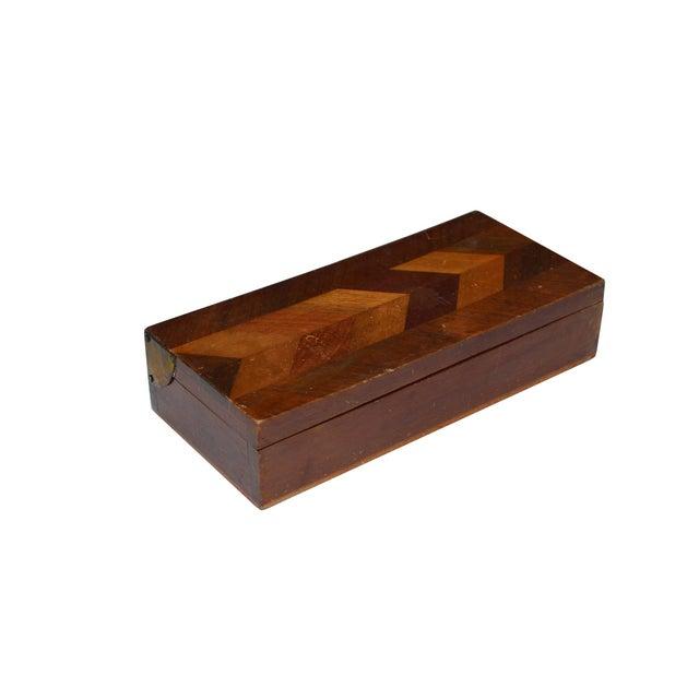 Herringbone Walnut Trinket Box - Image 1 of 4