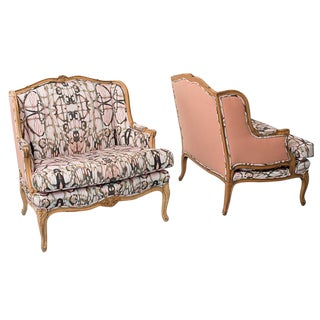 French Provincial Style Arabella Chairs - Pair