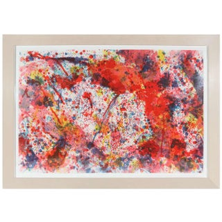 """""""And Pink"""" - Sam Francis Lithograph"""
