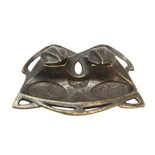 Art Deco Brass Inkwell