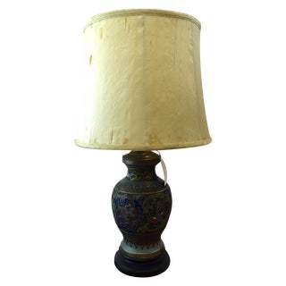 cloisonn table lamp 525 13 0 w 13 0 d 25 0 h raleigh nc. Black Bedroom Furniture Sets. Home Design Ideas