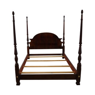 Flame Mahogany Queen Size Poster Bed, Thomasville