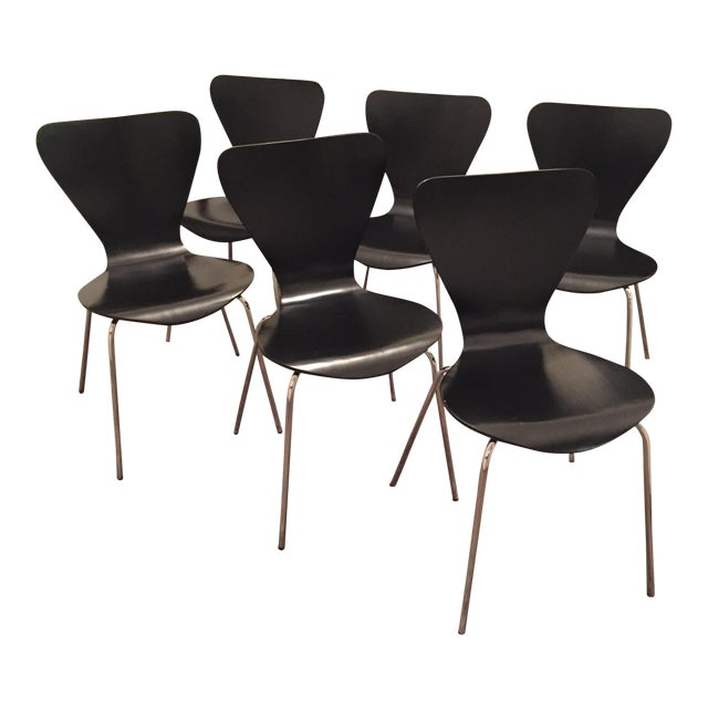 Black Butterfly Dining Chairs - Set of 6 - Image 1 of 9