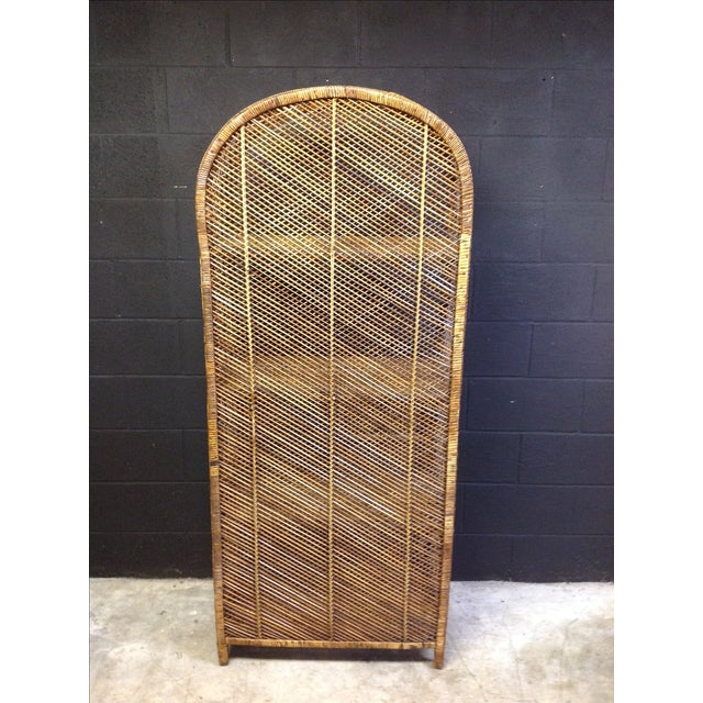Wicker and rattan peacock cabinet chairish for Cane and wicker world