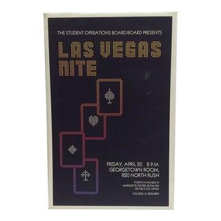'Las Vegas Nite' Gambling Event Poster