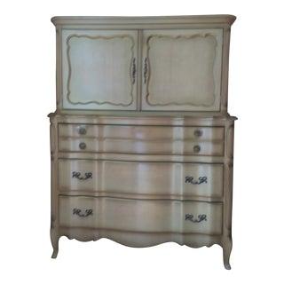 Vintage French Provincial Highboy Dresser