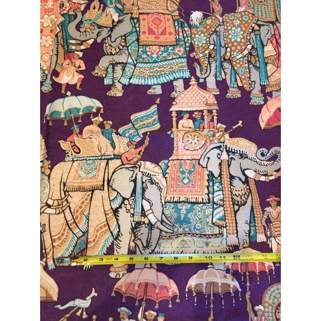Vintage India Elephant Festival Fabric - 2 Panels - Image 2 of 6