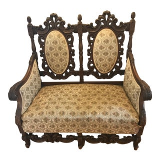 Antique Scottish Carved Settee