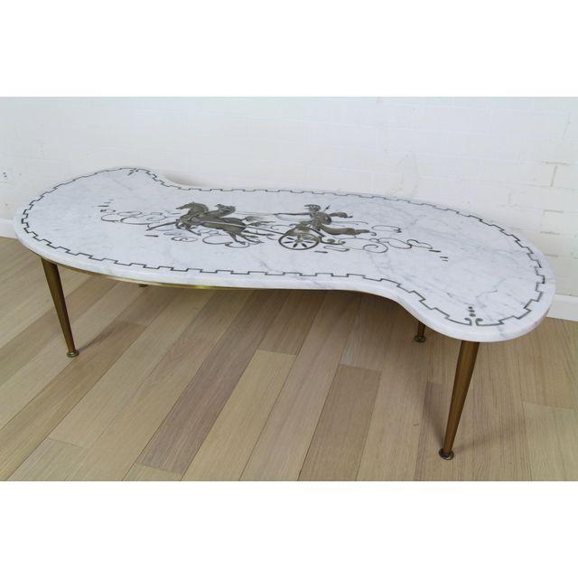 mid century italian white marble carrara coffee table chairish. Black Bedroom Furniture Sets. Home Design Ideas