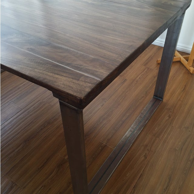 Handmade reclaimed wood dining table chairish - Handmade wooden dining tables ...