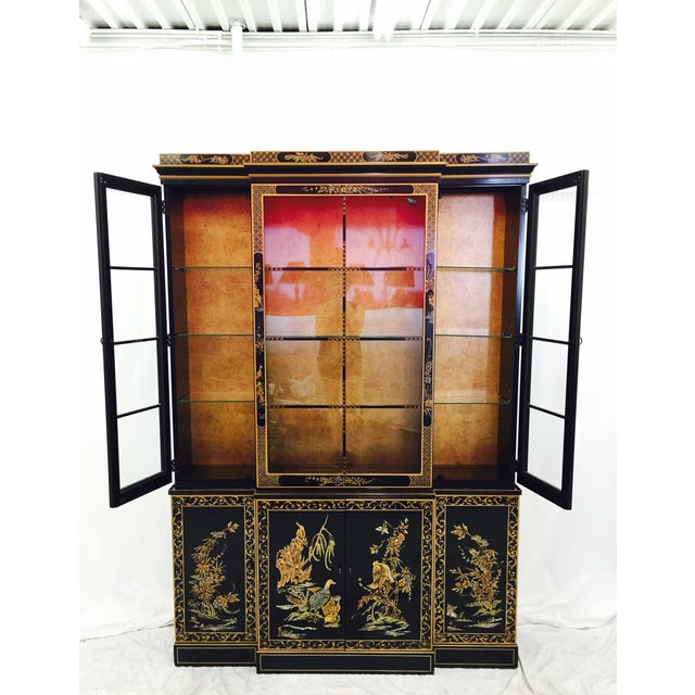 Vintage 1980s Drexel Heritage Asian Chinoiserie China Cabinet - Image 5 of 11