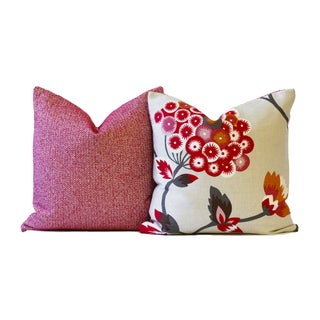 Red Chelsea Designer Down Pillow
