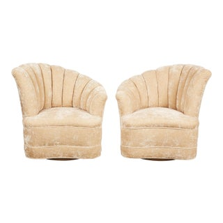 Pair of Kagan Inspired Nautilus Swivel Chairs