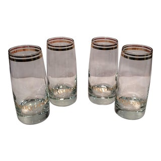 Vintage Courvoisier Crystal Glasses- Set of 4
