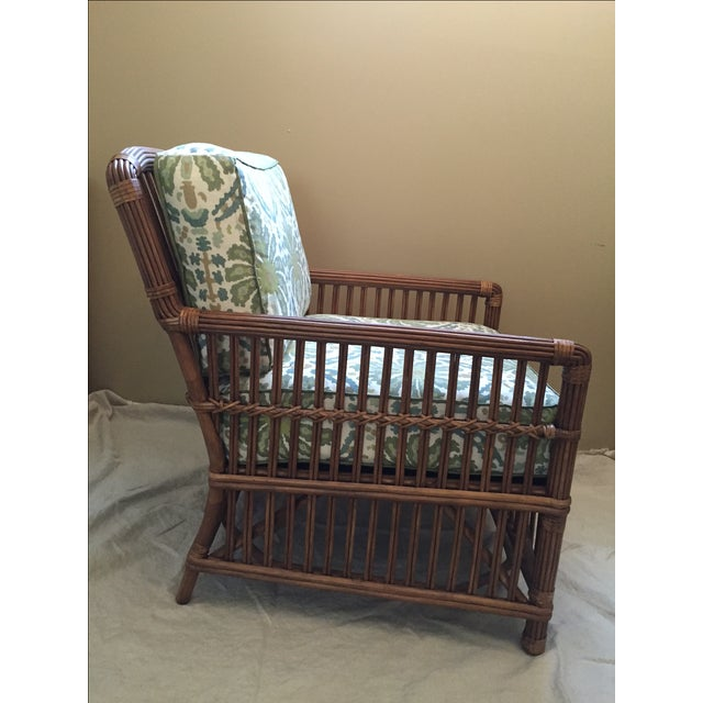 Modern Rattan Lounge Chair - Image 4 of 8