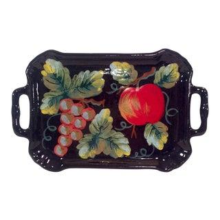 Mid-Century Italian Ceramic Tuscan Fruit Platter