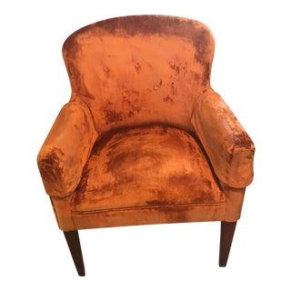 Vintage Burnt Orange Velvet Chair