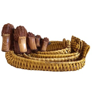 Vintage Set of Nesting Duck Baskets