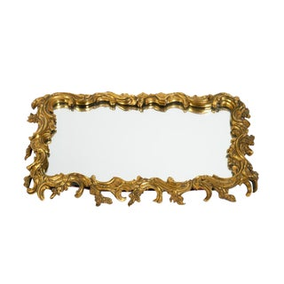 19th Century Antique Gilt Bronze Frame Mirrored Vanity Tray