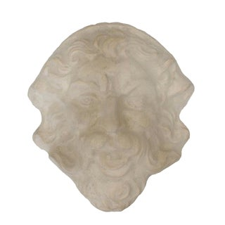 Molded Concrete Sculptural Wall Mask