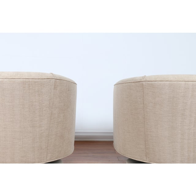 Swivel Hollywood Regency Style Chairs - Pair - Image 7 of 8
