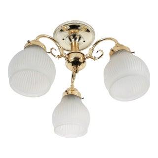 Brass 3-Lamp Ceiling Fixture