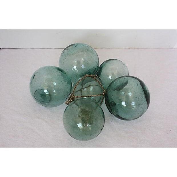 Image of Vintage Japanese Glass Fishing Floats - Set of 6