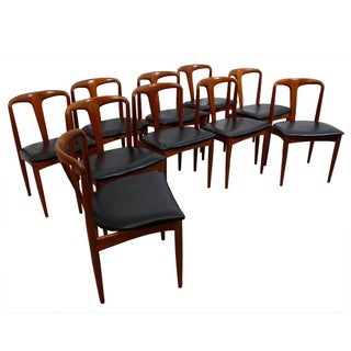 Johannes Andersen Teak Dining Chairs - Set of 10