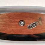 Image of Vintage Milbern Creations Chrome & Teak Tray