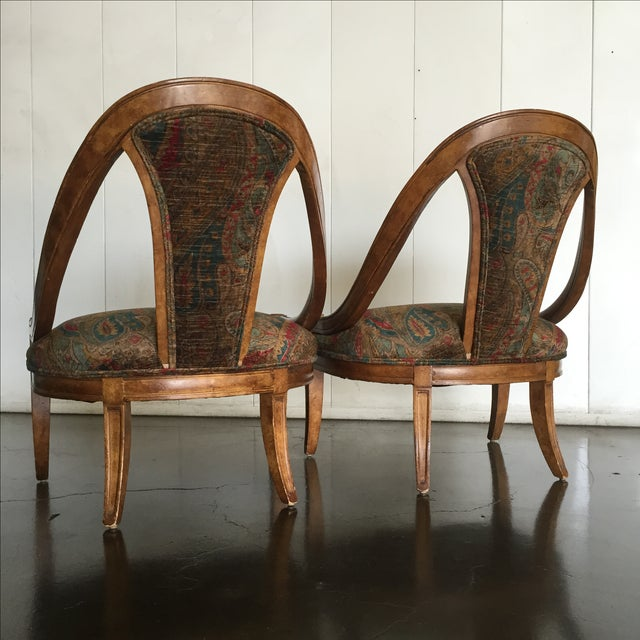 Vintage Bohemian Occasional Chairs - A Pair - Image 4 of 7